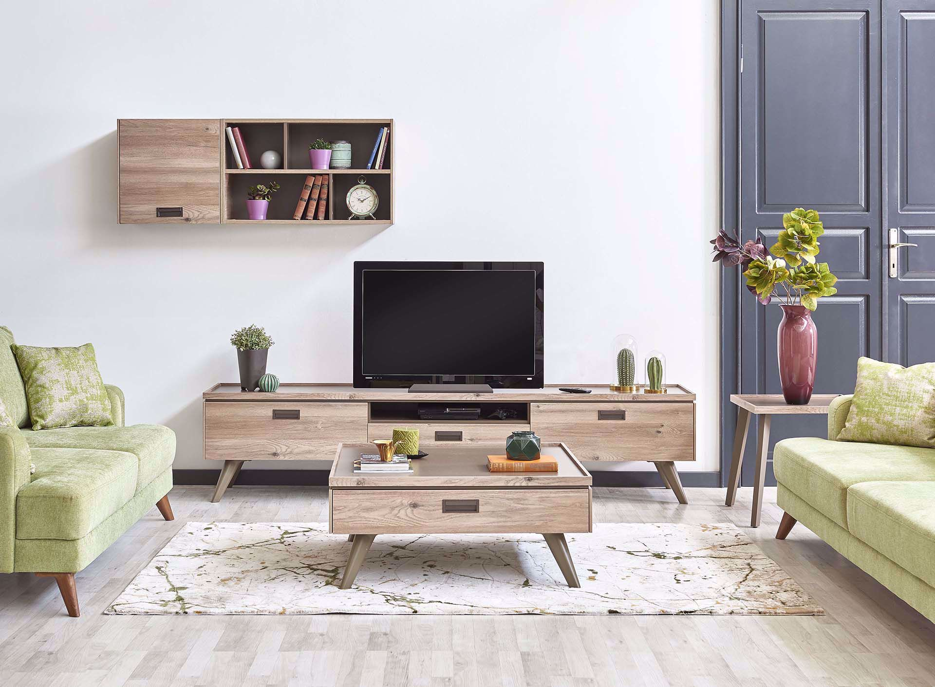 Sylva Coffee Table (With Drawer)