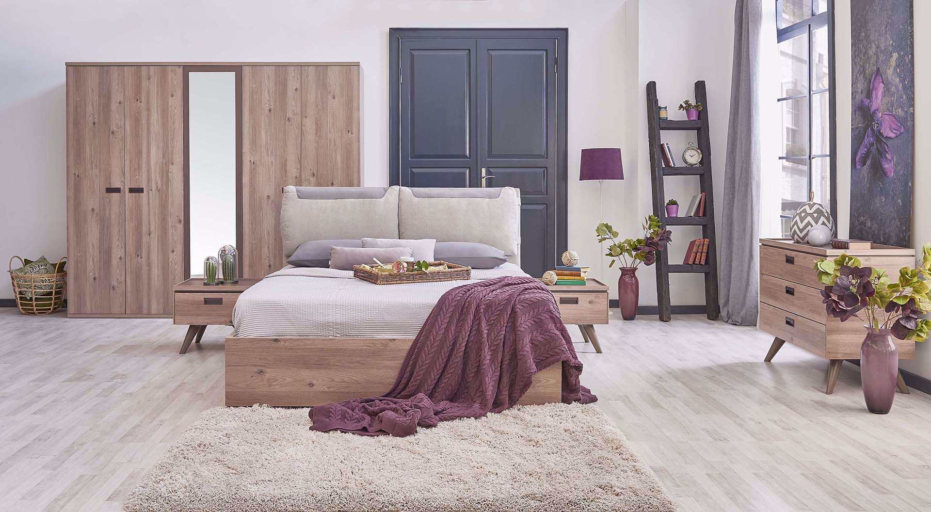 Sylva Bedstead (with Base) 160*200cm (Incl. Headboard)