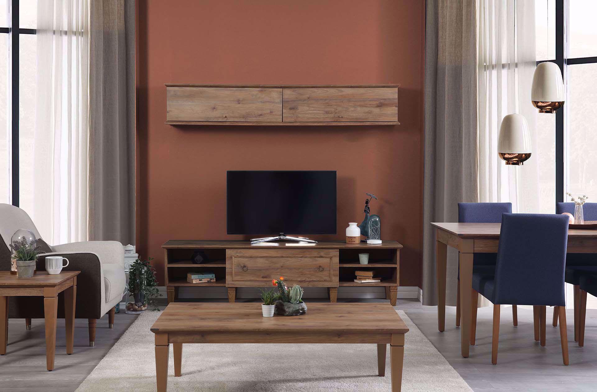 Cara TV Unit (Amalfi Walnut)