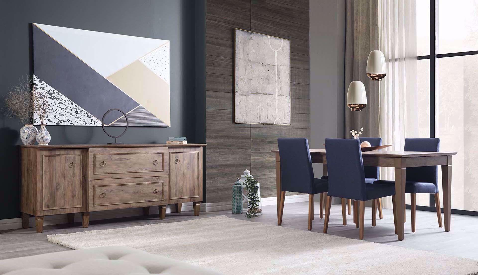 Cara Dining Room Set (Amalfi Walnut)
