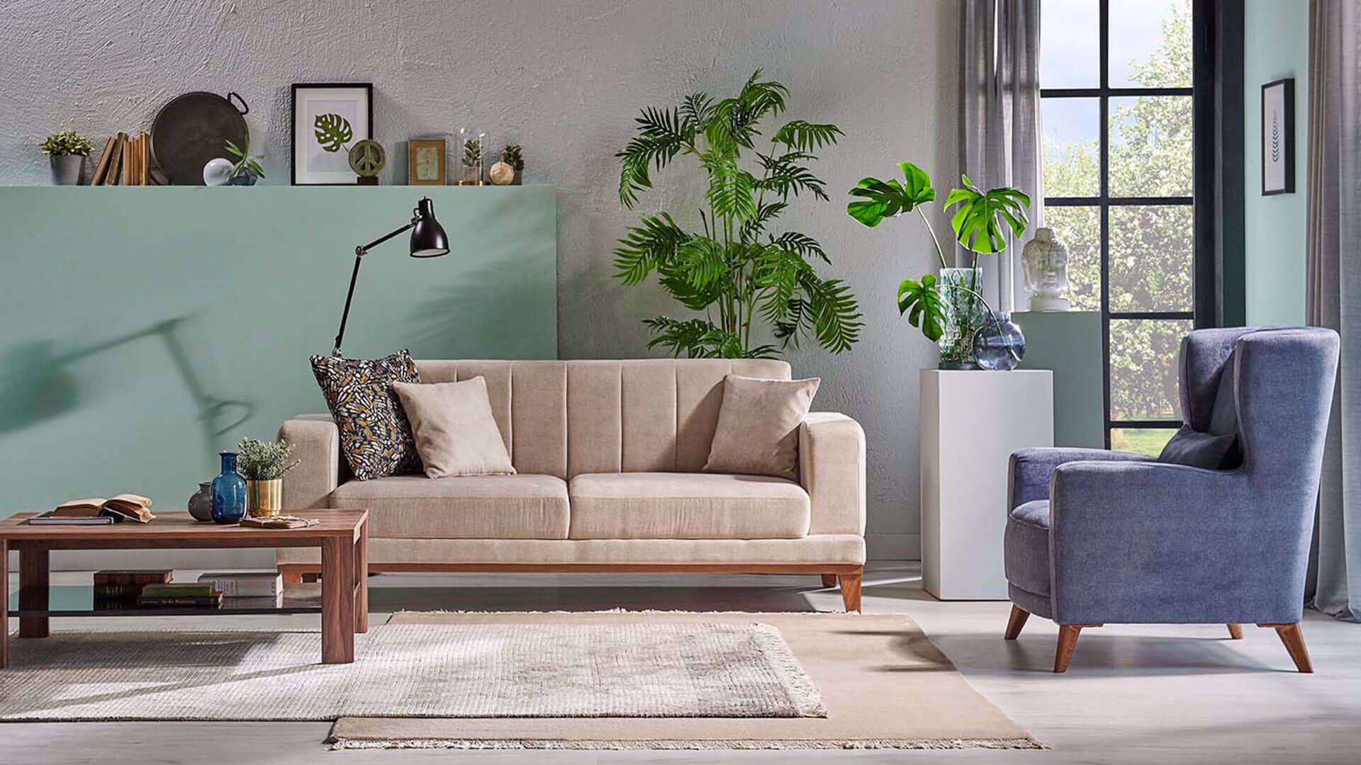 Selis Two-Seat Sofa (Doubles as Bed)