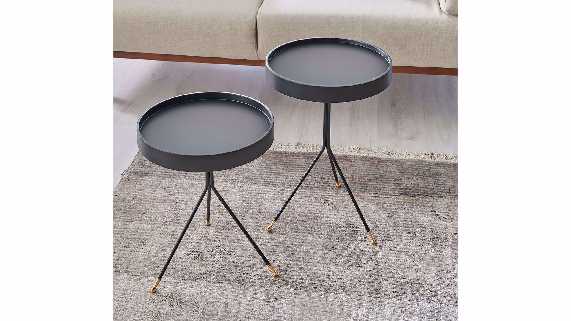 Fiare Nesting Table (Set of 2) (Black)